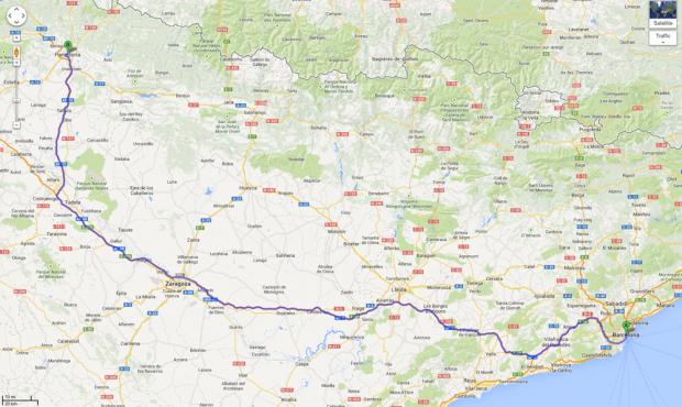 CupraBullRun map