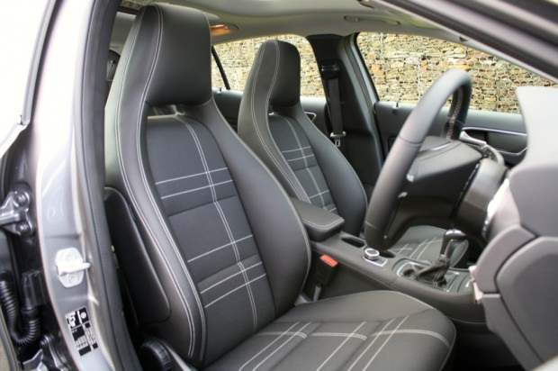 Mercedes GLA front seats