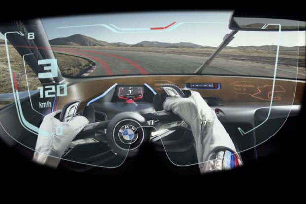 BMW 3.0 CSL Hommage R headup display