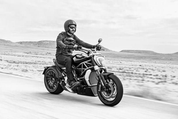 Ducati XDiavel riding