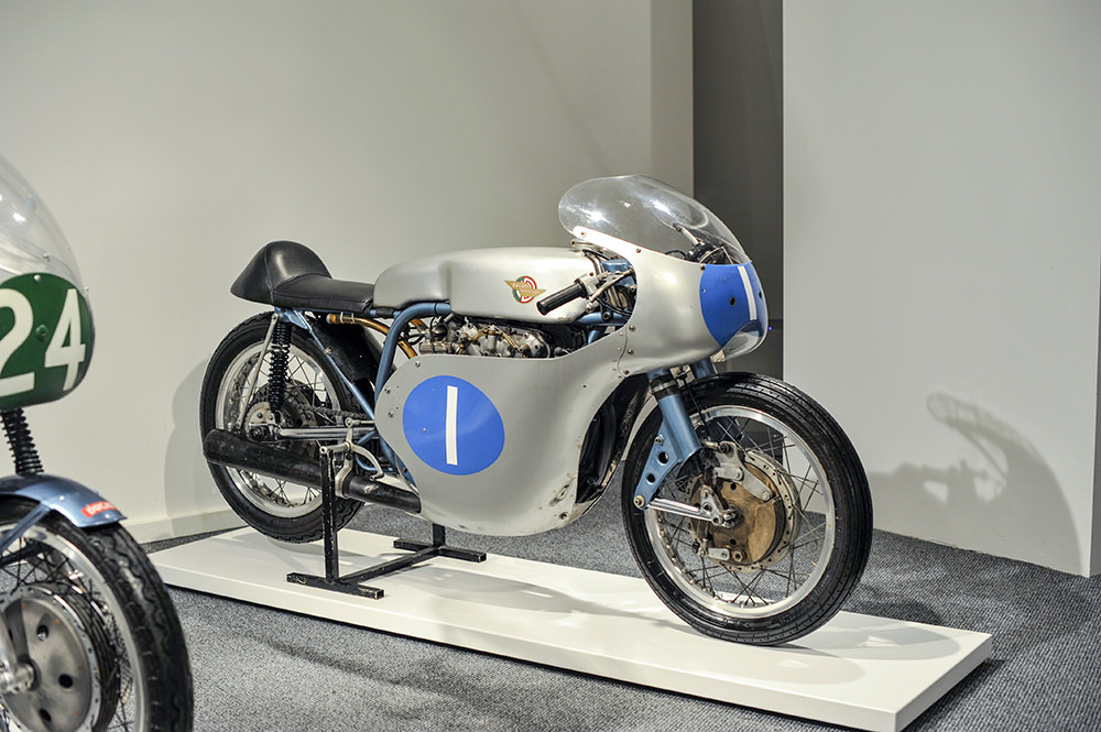 Ducati Desmo 350 on display