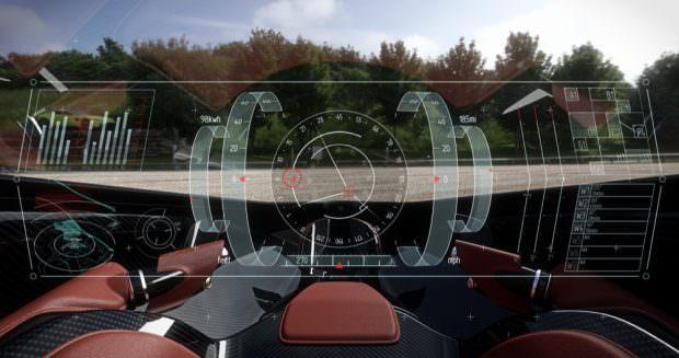 Aston Martin Volante Vision Concept display