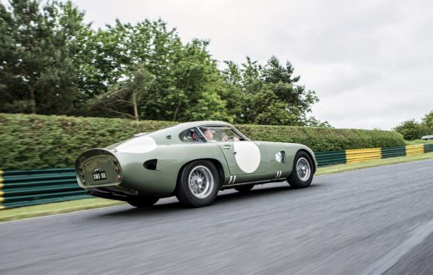 Aston Martin DP215 driving