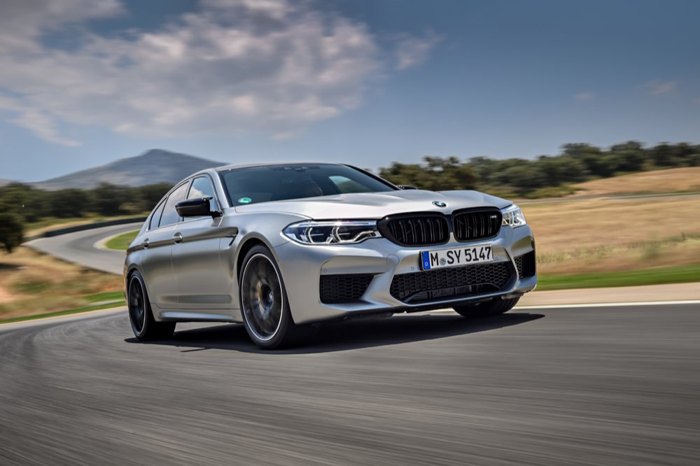 BMW M5 Competition driving