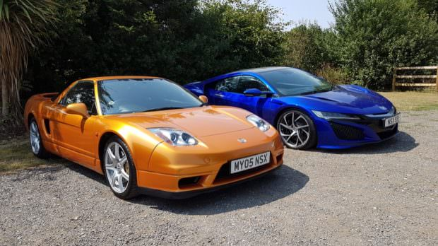 Honda NSX new and old