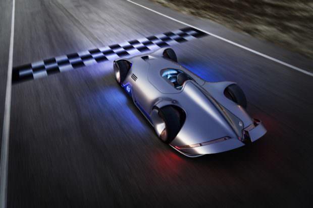 Mercedes-Benz Vision EQ Silver Arrow top view