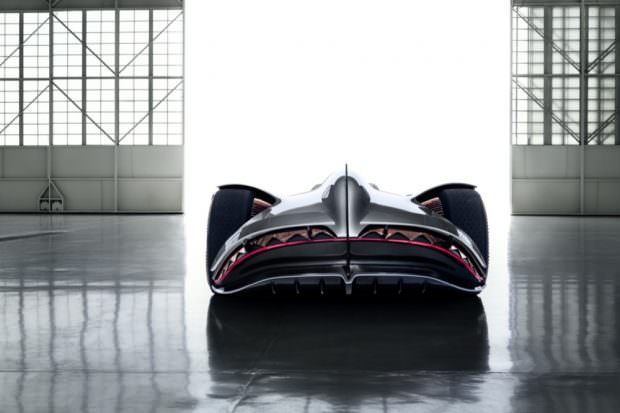 Mercedes-Benz Vision EQ Silver Arrow back end