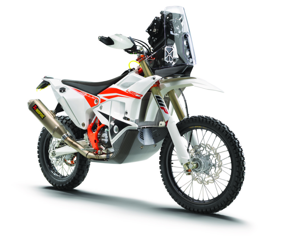 KTM 450 Rally Replica front quarter view