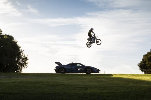 Motocross bike jumping McLaren Senna