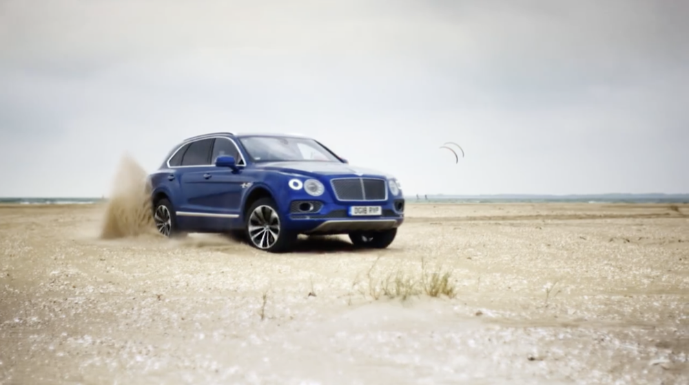 Bentley Bentayga on sand