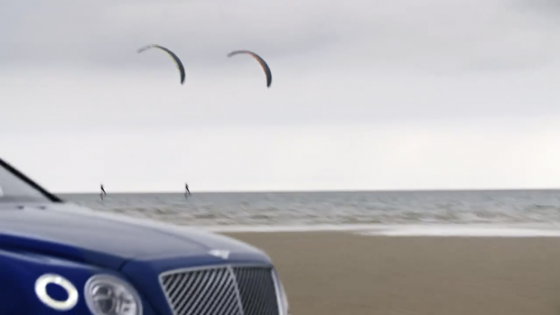 Bentley Bentayga on beach