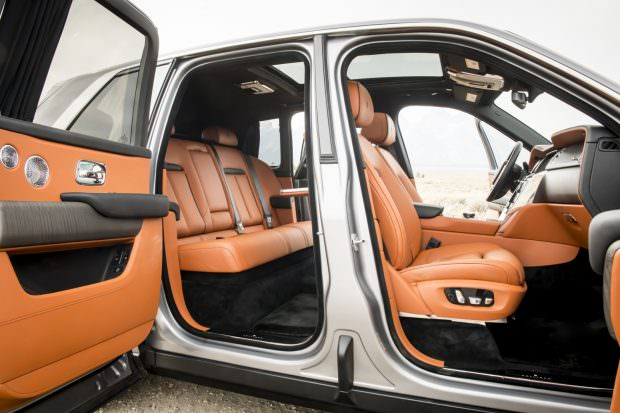 Rolls-Royce Cullinan rear interior