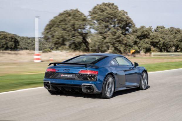 Audi R8 V10 performance rear quarter