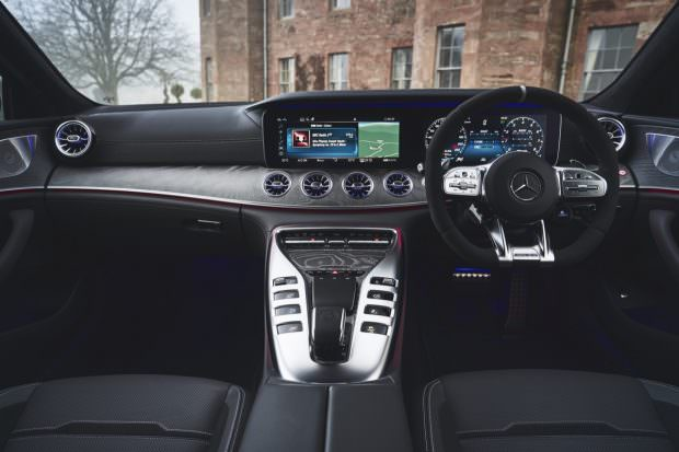 Mercedes-AMG GT four-door dashboard