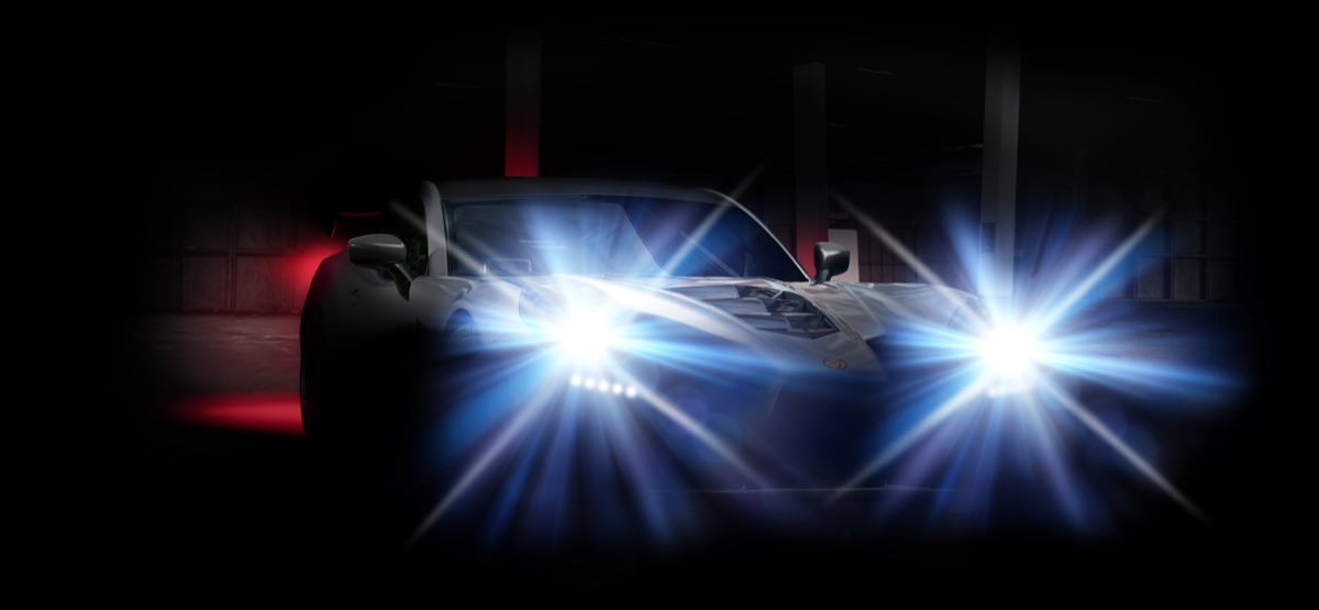 Headlight dazzle of new Ginetta car