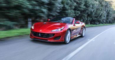 Ferrari Portofino driving