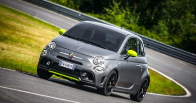 Abarth 595 Pista driving